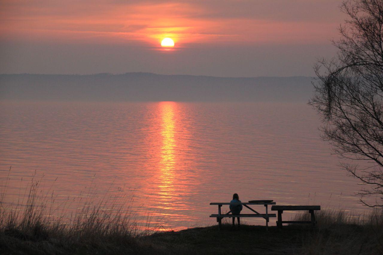 Melina solnedgång